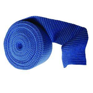 Blue Elasticated Tubular Bandage Size D 7.5cm x 10m