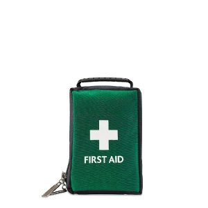 Empty Green First Aid Bag / Pouch with Handle - Medium