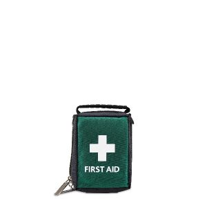 Empty Green First Aid Bag / Pouch with Handle - Small