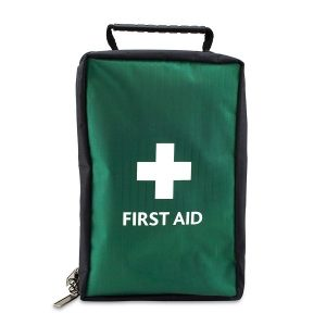 Empty Green First Aid Bag / Pouch with Handle - Extra Large