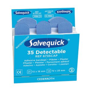 Cederroth Salvequick Blue Metal Detectable Refill Plasters