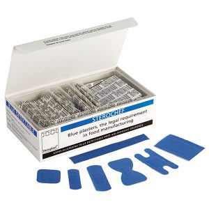 Sterochef Blue Metal Detectable Plasters Assorted Special Selection - 7 sizes (100)