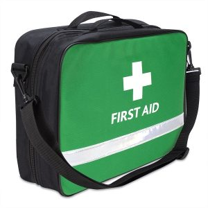 British Standard Compliant BS-8599-1 Blue Catering First Aid Kit in a Bag Medium