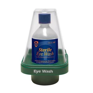 Dome Covered Single Eyewash Station - Complete