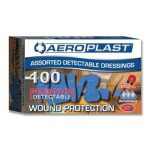 Aeroplast Blue Metal Detectable Plasters Assorted (100)