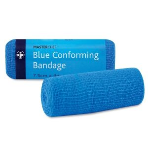 Blue Conforming Bandage 7.5cm