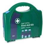 Blue British Standard Compliant BS-8599-1 Workplace Catering First Aid Kit Large