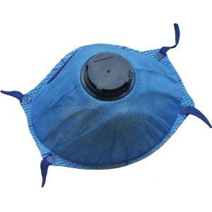 Blue Metal Detectable Valved Face / Dust Masks FFP2