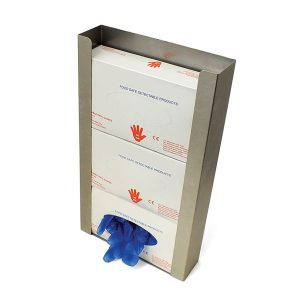 Metal Detectable Stainless Steel Wall Mounted Gloves Dispenser - 3 boxes