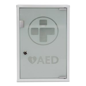 Defibrillator AED Wall Cabinet Alarmed & Lockable