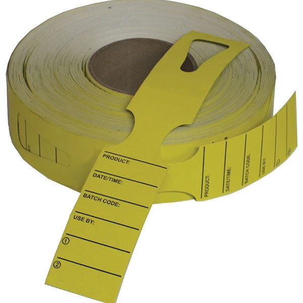 Metal Detectable Keyhole Tags - Large